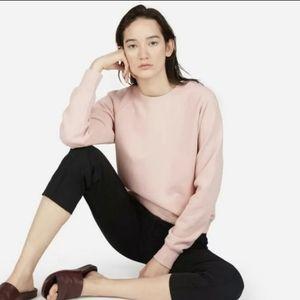 Everlane Pink Classic French Terry Sweatshirt XL